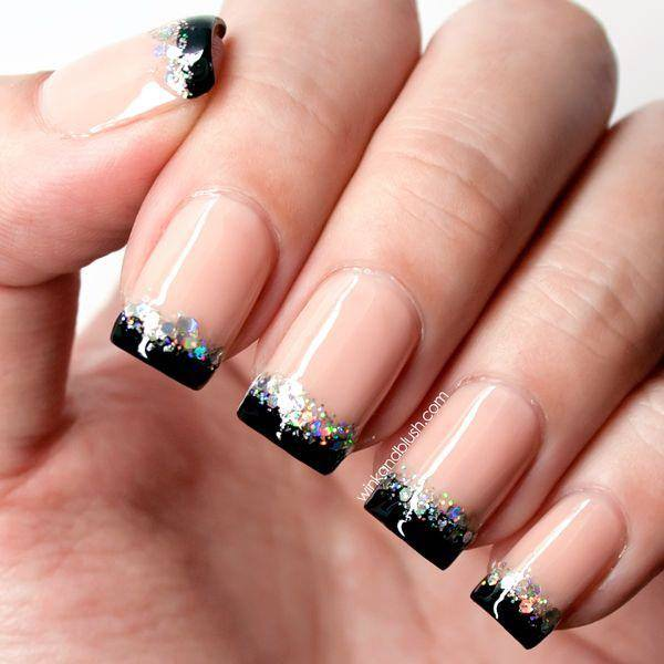 12. Black On The Top. This french tip nails design ... - 76 Chic French Tip Nails Design That You Can Get Easily