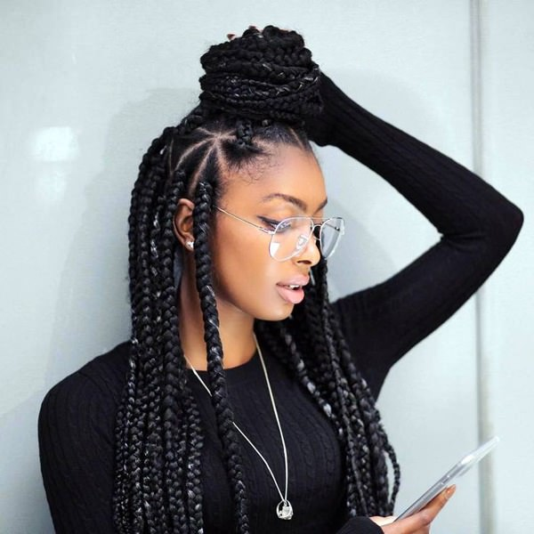 If You Re Looking For A Statement Hairstyle Think Of Ombre Box Braids That Will Add Some Color To Your Looks With This Braid Style Strips Colorful
