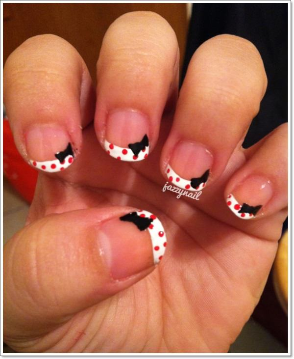 22. Polka Dots - 76 Chic French Tip Nails Design That You Can Get Easily