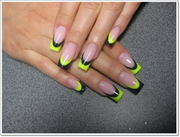 highlighted french tip nails design