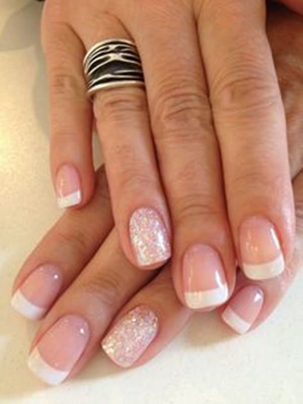 Curved French Tips - 76 Chic French Tip Nails Design That You Can Get Easily