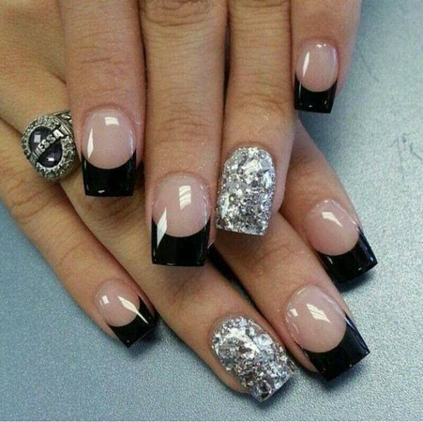 Black Beauty - 76 Chic French Tip Nails Design That You Can Get Easily