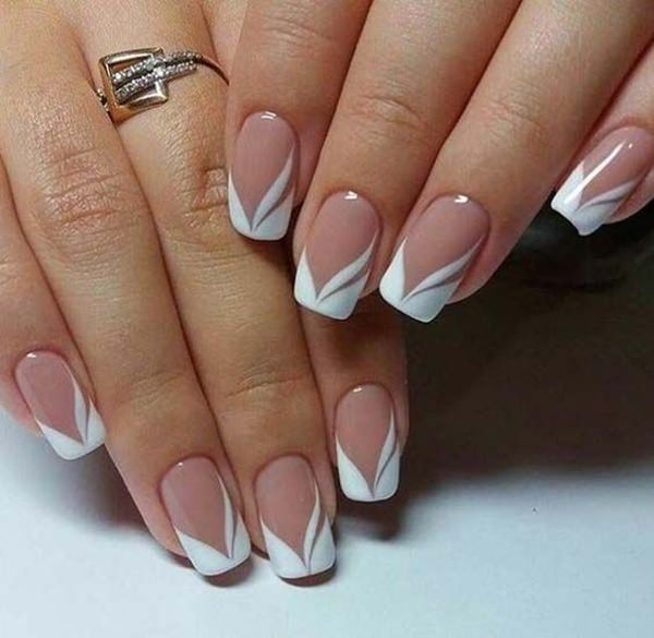 This acrylic french tip nails design is such a treat to the eyes. You got  it, make your base a nice nude color. - 76 Chic French Tip Nails Design That You Can Get Easily
