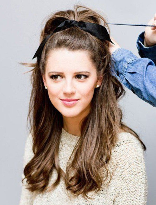 This hairstyle is a savior for your daily look and popular between High School girls. High Pony Tail is one of those easy hairstyles that will save your ...