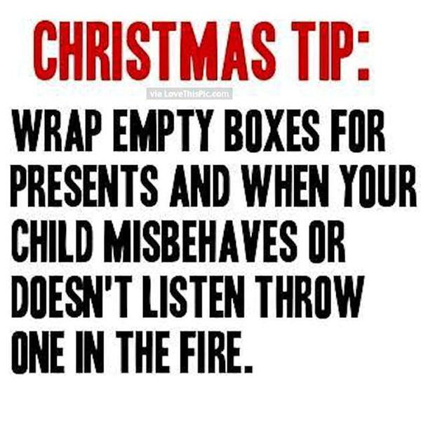 Christmas Tip It Works Seriously It Works No Dont Laugh I Am Saying It Works Now This Is Not A Funny Quote It Only Tells About A Very Funny Thing